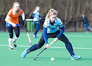 BLOEMENDAAL - Kirsten Klop (Nijm.)  hoofdklasse competitie dames, Bloemendaal-Nijmegen (1-1) COPYRIGHT KOEN SUYK