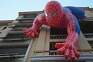 China: Giant spider man dangles on residential buildings, 21 September 2016