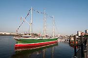 Hamburger Hafen, Museumsschiff Rickmer Rickmers, Hamburg, Deutschland.|.Hamburg harbour, museum ship Rickmer Rickmers, Hamburg, Germany.
