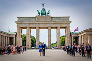 19-7-2017 - BERLIN GERMANY  The Duke and Catherine Duchess of Cambridge Princess Kate and Prince William will visit The Brandenburg gate in Berlin.  The Duke and Duchess of Cambridge  During a 3 day visit to Germany. COPYRIGHT ROBIN UTRECHT