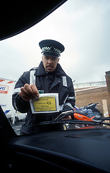 Traffic warden, Camden, London UK
