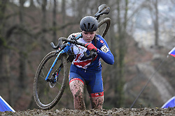 February 3, 2018 - Valkenburg, Pays bas - Harnden Harriet (GBR) in action during the 2018 UCI Cyclo-Cross World Championships for Women under 23 on February 03, 2018 (Credit Image: © Panoramic via ZUMA Press)