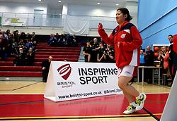 Mizuki Fuji of Bristol Jets walks out to face The Surrey Smashers - Photo mandatory by-line: Robbie Stephenson/JMP - 06/02/2017 - BADMINTON - SGS Wise Arena - Bristol, England - Bristol Jets v Surrey Smashers - AJ Bell National Badminton League