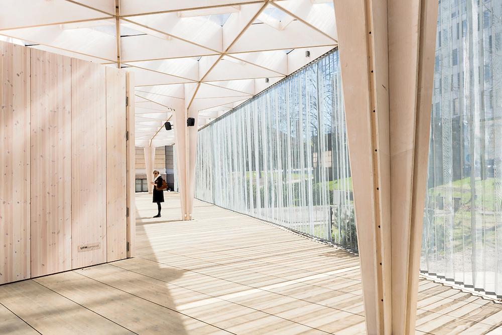 Paviljonki - Wooden pavilion for 2012 World design capital events in Helsinki, Finland