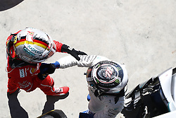 November 12, 2017 - Sao Paulo, Brazil - Motorsports: FIA Formula One World Championship 2017, Grand Prix of Brazil, .#5 Sebastian Vettel (GER, Scuderia Ferrari), #77 Valtteri Bottas (FIN, Mercedes AMG Petronas F1 Team) (Credit Image: © Hoch Zwei via ZUMA Wire)