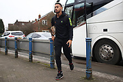 Junior Mondal arrives ahead of the EFL Sky Bet League 2 match between Macclesfield Town and Forest Green Rovers at Moss Rose, Macclesfield, United Kingdom on 25 January 2020.