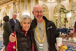 2014 Boston Marathon: Joan Samuelson and Greg Meyer, former champions of the race