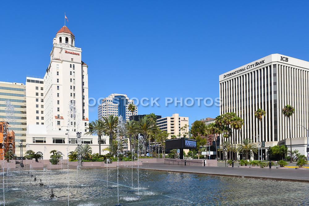Long Beach City Scape On East Ocean Blvd
