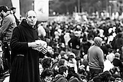 Rome jan 30th 2016, people gather at Rome's Circus Maximus. Thousands of people were gathering in Rome's Circus Maximus for a pro-family protest that opposes proposed legislation permitting civil unions for same-sex couples and legal recognition for their families. In the picture a friar