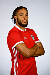 NANNING, CHINA - Saturday, March 24, 2018: Wales' captain Ashley Williams during a squad photo shoot at the Wanda Realm Hotel on day five of the 2018 Gree China Cup International Football Championship. (Pic by David Rawcliffe/Propaganda)