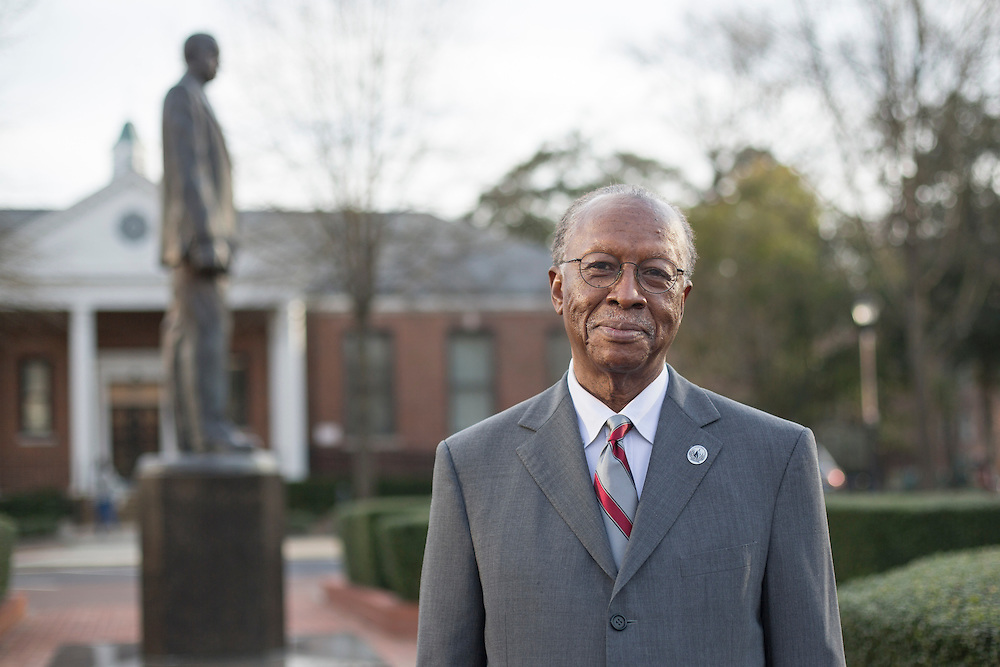Clarence G. Williams, a former MIT administrator who has done research on mentoring, on the campus of his alma mater, North Carolina Central University, in Durham, North Carolina, March 7, 2016. <br /> Photo by D.L. Anderson for The Chronicle of Higher Education