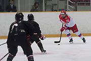 Russia forward Dobrodeyeva Ekaterina controls the puck in the third period during the Nagano Olympics Paralympics 20th Anniversary Games at Nagano on Monday, December 25, 2017. 25/12/2017-Nagano, JAPAN.