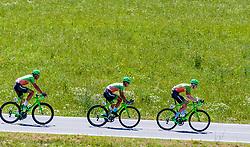 05.07.2017, Altheim, AUT, Ö-Tour, Österreich Radrundfahrt 2017, 3. Etappe von Wieselburg nach Altheim (226,2km), im Bild Andreas Graf (AUT, Hrinkow Advarics Cycleang), Dennis Paulus (AUT, Hrinkow Advarics Cycleang), Nils Friedl (AUT, Hrinkow Advarics Cycleang) // Andreas Graf (AUT, Hrinkow Advarics Cycleang), Dennis Paulus (AUT, Hrinkow Advarics Cycleang), Nils Friedl (AUT, Hrinkow Advarics Cycleang) during the 3rd stage from Wieselburg to Altheim (199,6km) of 2017 Tour of Austria. Altheim, Austria on 2017/07/05. EXPA Pictures © 2017, PhotoCredit: EXPA/ JFK