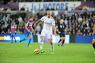 Jonjo Shelvey of Swansea City in action.<br /> Barclays Premier league match, Swansea city v Crystal Palace at the Liberty stadium in Swansea, South Wales on Saturday 29th November 2014<br /> pic by Phil Rees, Andrew Orchard sports photography.