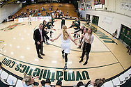 The women's basketball game between the Binghamton Bearcats and the Vermont Catamounts at Patrick gym on Wednesday night January 11, 2017 in Burlington, Vermont.