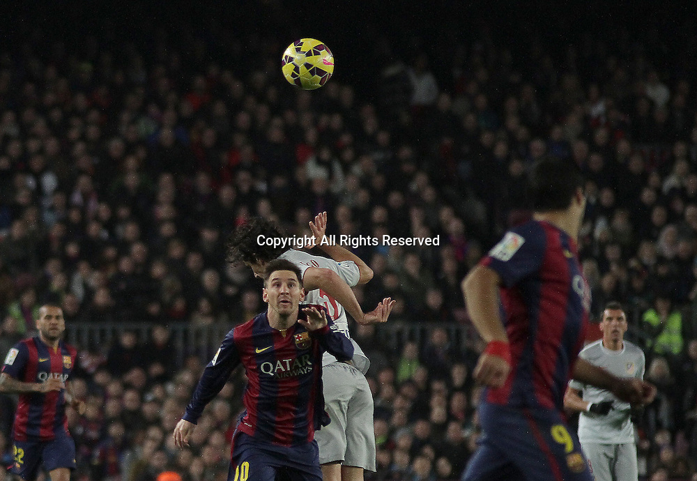 11.01.2015. Barcelona, Spain. La liga football. Barcelona versus Atletico Madrid. Messi in action during the match