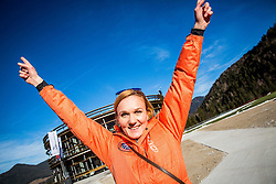 Petra Majdic at official opening of the new Nordic centre Planica, on December 11, 2015 in Planica, Slovenia. Photo by Vid Ponikvar / Sportida