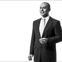 Corporate studio portrait of a businessman.