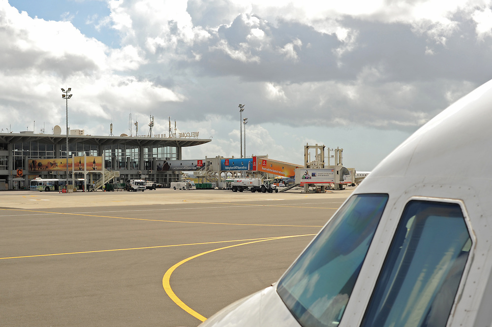 DAR ES SALAAM, TANZANIA -  13-10-07  - Julius Nyerere International Airport (DAR) in Dar es Salaam, Tanzania on October 7.  Photo by Daniel Hayduk