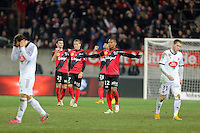 JOIE GUINGAMP / Claudio BEAUVUE - 24.01.2015 - Guingamp / Lorient - 22eme journee de Ligue1<br />