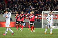JOIE GUINGAMP / Claudio BEAUVUE - 24.01.2015 - Guingamp / Lorient - 22eme journee de Ligue1<br />Photo : Vincent Michel / Icon Sport