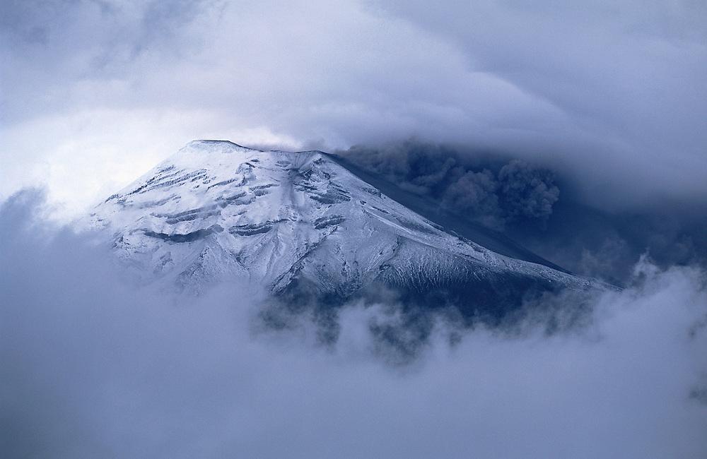 Eruption on the Tungurahua Volcano. Andes mountain range, Ecuador