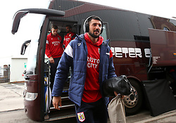 Eros Pisano of Bristol City arrives at Barnsley - Mandatory by-line: Robbie Stephenson/JMP - 30/03/2018 - FOOTBALL - Oakwell Stadium - Barnsley, England - Barnsley v Bristol City - Sky Bet Championship