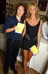 ELLE MACPHERSON and JOHN HITCHCOX at the Royal Academy of Art's SUmmer Party following the official opening of the Summer Exhibition held at the Royal Academy of Art, Burlington House, Piccadilly, London W1 on 7th June 2006.<br />