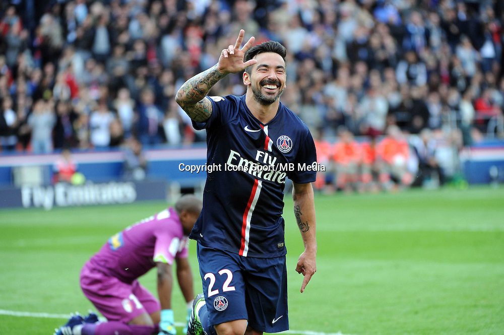 Joie Ezequiel LAVEZZI  - 25.04.2015 - Paris Saint Germain / Lille - 34eme journee de Ligue 1<br />