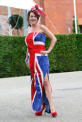 Racegoer  at  Ladies Day at Glorious Goodwood, Thursday, 2nd August 2012 Photo by: Stephen Lock / i-Images