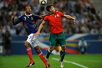FOOTBALL - UEFA EURO 2012 - QUALIFYING - GROUP D - FRANCE v BELARUS - 3/09/2010 - PHOTO GUY JEFFROY / DPPI - LOIC REMY (FRA) / SERGEI OMELYANCHUK (BIE)