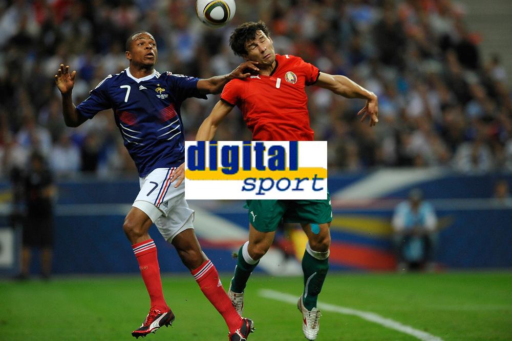 FOOTBALL - UEFA EURO 2012 - QUALIFYING - GROUP D - FRANCE v BELARUS - 3/09/2010 - PHOTO GUY JEFFROY / DPPI - LOIC REMY (FRA) / SERGEI OMELYANCHUK (BIE)