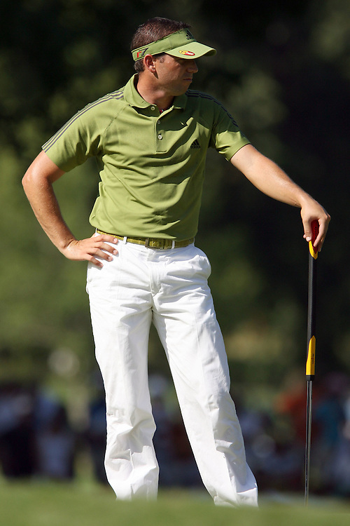 11 August 2007: Sergio Garcia on the 7th green during the third round of the 89th PGA Championship at Southern Hills Country Club in Tulsa, OK.
