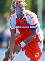 UTRECHT - Aanvoerder Floris Evers , zaterdag tijdens de  hockey interland tussen de mannen van Nederland en Duitsland (4-2). COPYRIGHT KOEN SUYK