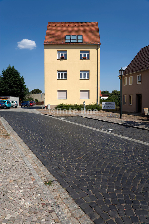 renovated house in a former East German village near Leipzig