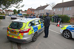 ©Licensed to London News Pictures 26/02/2020<br /> Croydon, UK. A 24 year old man has been stabbed to death in Croydon, South East London over night. Police were called to the scene at 12.15am. The man was pronounced dead at the scene no arrests have been made. A police cordon is in place with forensic officers coming and going to a nearby property. Photo credit: Grant Falvey/LNP