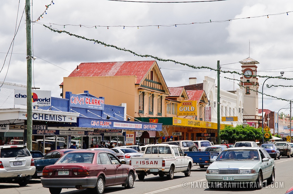 Main street in downtown Stanthorpe, Queensland