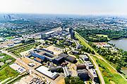 Nederland, Noord-Holland, Amsterdam,  29-06-2018; Watergraafsmeer, Science park. Universiteit van Amsterdam, Faculteit der Natuurwetenschappen, Wiskunde en Informatica. Startup Villag<br /> Science park with University Amsterdam, Science department.<br /> <br /> luchtfoto (toeslag op standard tarieven);<br /> aerial photo (additional fee required);<br /> copyright foto/photo Siebe Swart
