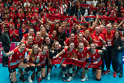 VCN celebrate in the cup final between Sliedrecht Sport and Laudame Financials VCN on February 16, 2020 in De Maaspoort in Den Bosch.
