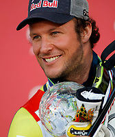 ALPINE SKIING - WORLD CUP 2011/2012 - SCHLADMING (AUT) - FINAL -  15/03/2012 - PHOTO : ARMANDO TROVATI / PENTAPHOTO / DPPI - MEN SUPER G - Aksel lund Svindal (NOR) / CRISTAL GLOBE
