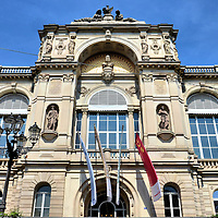 Friedrichsbad Bathhouse Front View in Baden-Baden, Germany<br />
