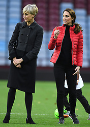 The Duke and Duchess of Cambridge visit Aston Villa Football Club to see the work of the Coach Core programme taking place in Birmingham, UK, on the 22nd November 2017. 22 Nov 2017 Pictured: Catherine Quinn, Catherine, Duchess of Cambridge, Kate Middleton. Photo credit: James Whatling / MEGA TheMegaAgency.com +1 888 505 6342