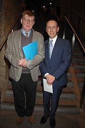 Left to right, ALAN BENNETT and NICHOLAS HYTNER at Fast Forward - a fund-raising party for the National Theatre held at The Roundhouse, London NW1 on 1st March 2007.<br />