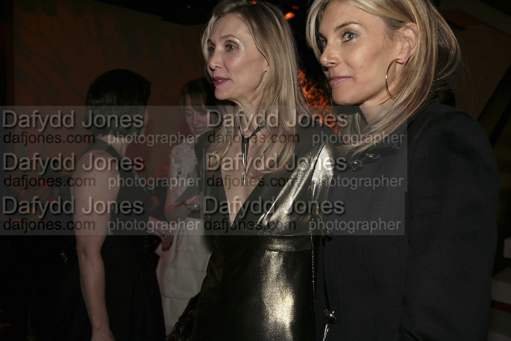 Allegra Hicks and Kim Hersov, DONNA KARAN GOLD FRAGRANCE COLLECTION LAUNCH <br />