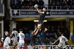 Elliott Stooke of Bath Rugby wins the ball at a lineout - Mandatory byline: Patrick Khachfe/JMP - 07966 386802 - 06/12/2019 - RUGBY UNION - The Recreation Ground - Bath, England - Bath Rugby v Clermont Auvergne - Heineken Champions Cup