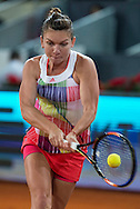 Simona Halep during the Madrid Open at Manzanares Park Tennis Centre, Madrid<br /> Picture by EXPA Pictures/Focus Images Ltd 07814482222<br /> 07/05/2016<br /> ***UK &amp; IRELAND ONLY***<br /> EXPA-ESP-160507-0014.jpg