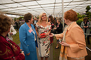 DOROTHY IRVIN PRESIDENT OF NAFAS; KATHERINE JENKINS AND MEMBERS OF THE NATIONAL ASOCIATION FOR FLOWER ARRANGING. , Press and VIP viewing day. Chelsea Flower show, Royal Hospital Grounds. Chelsea. London. 18 May 2009