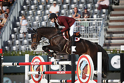 Al Emadi Khalid Mohammed, (QAT), Tamira IV <br /> First Round<br /> Furusiyya FEI Nations Cup Jumping Final - Barcelona 2015<br /> © Dirk Caremans<br /> 24/09/15