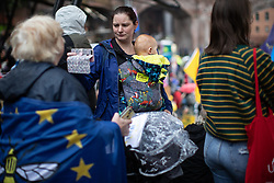 © Licensed to London News Pictures . 29/09/2019. Manchester, UK. Pro-EU demonstrators hold a rally at Castlefield Bowl . Demonstrations for and against Brexit , austerity measures , the environment and numerous social issues take place across Manchester during the first day of the Conservative Party Conference taking place at the Manchester Central Exhibition Centre . Photo credit: Joel Goodman/LNP