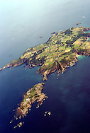 Sark and little sark from the air